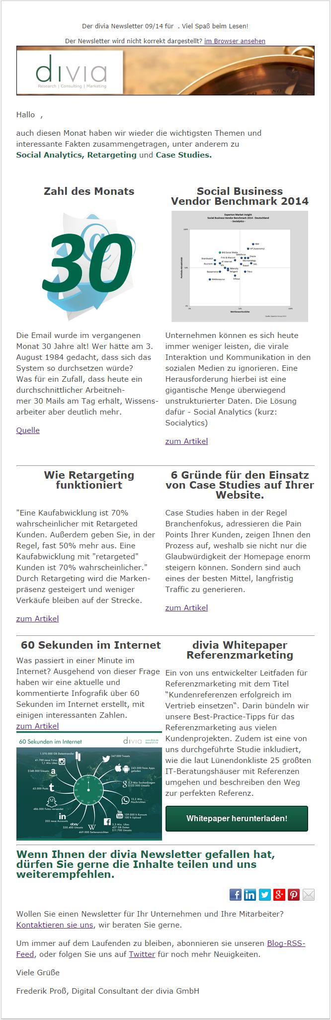 divia Newsletter