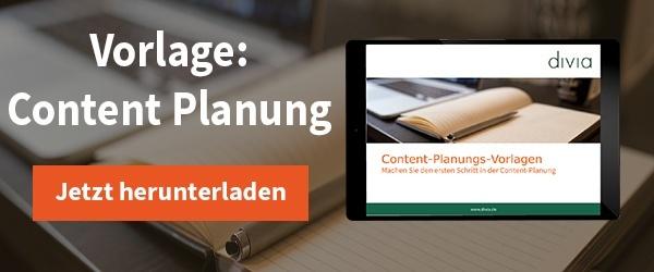 Content-Planungsvorlage