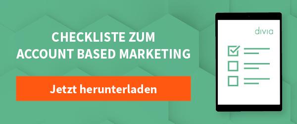 Checkliste: Account-based-Marketing