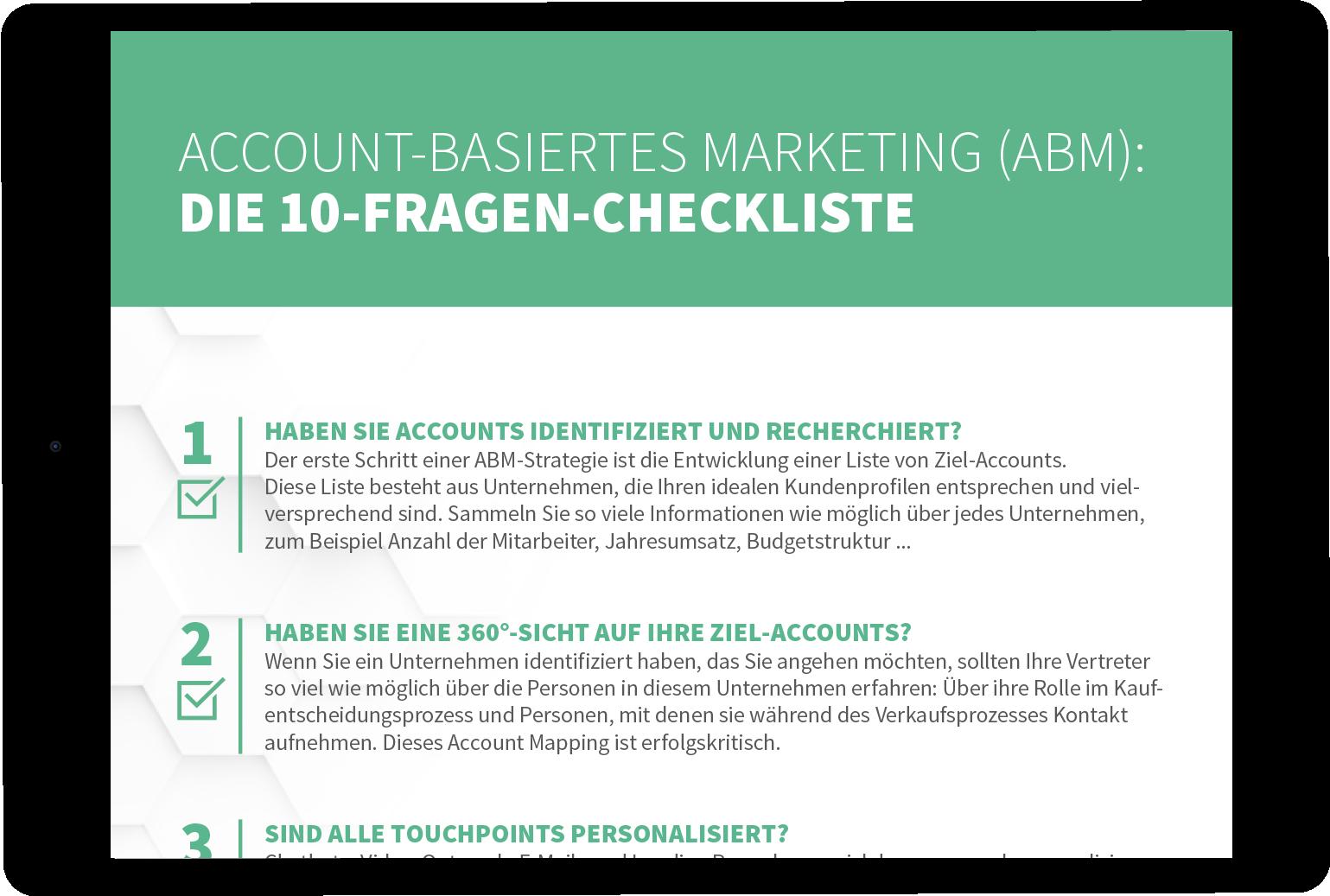 Checkliste Account Based Marketing